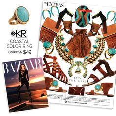 @harpersbazaar says their February issue is all about what they love the most—including our new Coastal Color Ring! If you're also head-over-heels for this trendy turquoise piece, shop it now!