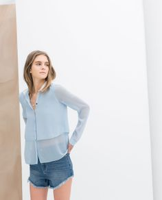 Image 1 of DOUBLE LAYER SHIRT from Zara