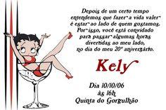 Convite digital personalizado Betty Boop 002