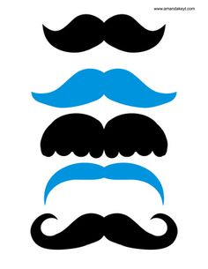 Mustaches from Star Trek Inspired Printable Photo Booth Prop Set