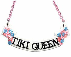 Tiki Queen scroll necklace