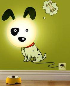 """Wandlampe """"Cute doggie"""" weiß von JPinTrade"""