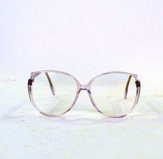"Vintage Eye Wear - Eyeglasses,Retro Eye lasses   - Silhouette Eyeglass Austria Frames - Clear Rx Oval to Square Large Lens 2.25"" x 2"" on Etsy, $59.00"