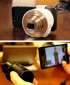 """Sony's new """"lens-type"""" cameras are totally new. You can use your phone as a viewfinder- or just shoot with the lens!"""