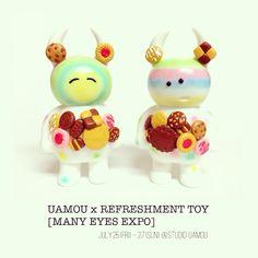 MANY SWEETS UAMOUクッキー✨ UAMOU x REFRESHMENT TOY [MANY EYES EXPO] 7.25.(金) - 27.(日) STUDIO UAMOU様にて☆11:00-19:00 (スタジオ ウアモウ (STUDIO UAMOU)) #uamou #refreshmenttoy #sofubi #customtoy