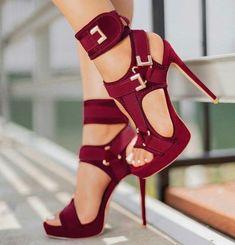 Cheap High Heels, Red High Heels, Sexy Heels, Gladiator Sandals Heels, Ankle Strap Heels, Women's Shoes Sandals, Strappy Heels, Stiletto Shoes, Vintage Stil