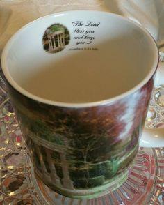 2004 Thomas Kinkade AMCAL Lilac Cottage Coffee Mug Cup For The Gift Of Art