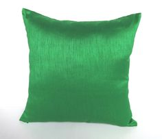 Green cushion cover and throw pillow art silk. 18 inch set of 2 pcs on 20% discount. Con be customised.  Below price is for 2  pcs.