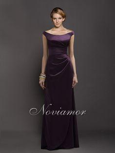 Gorgeous Off the Shoulder Dark Purple Bridesmaids Dress NB2011
