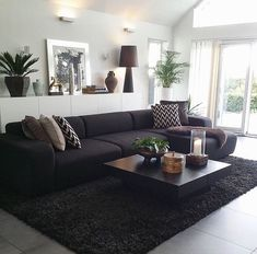 Image Result For Decorating Ideas Living Room With Black Leather Sofa
