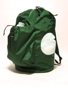 2LOAD  LAUNDRY BACKPACK Hunter Green /  white by bazillionbags, $39.00