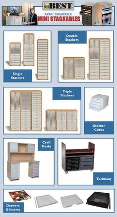 Best Craft Organiser - Stackables::Storage Furniture Suppliers, Craft Storage Boxes, Office Storage Furniture, UK