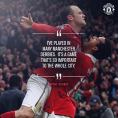 Wayne Rooney on Derby Manchester