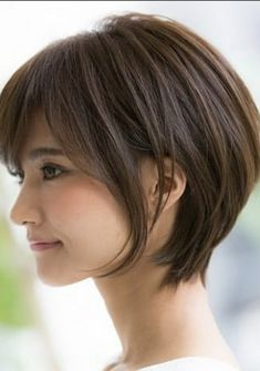 20 Best Ideas for Short Haircuts for Fine Hair Asian Short Hair, Asian Hair, Haircuts For Fine Hair, Cute Hairstyles For Short Hair, Short Hair With Layers, Short Hair Cuts, Medium Hair Styles, Short Hair Styles, Cool Hair Color
