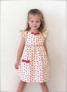 Girls Dress Pattern Maddie Lou Dress sizes by TheFreckledPear