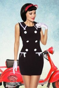 Vestido Pin Up marinero negro