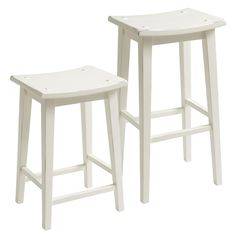 Lawson Backless Bar & Counter Stool - Antique White | Pier 1 Imports