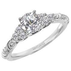 Gossimer ArtCarved Diamond Engagement Ring   JR Jewelers