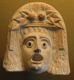 Dioniso máscara de terracota, 200 a.n.e. Museo del Louvre
