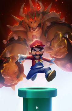 Super Mario x Bowser, Max Grecke on ArtStation at https://www.artstation.com/artwork/zngP2