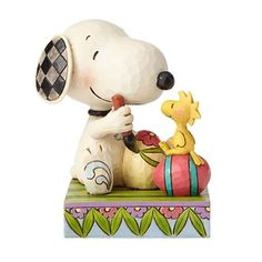 Peanuts Jim Shore Snoopy and Woodstock Easter Eggs Statue - Enesco - Peanuts - Statues at Entertainment Earth