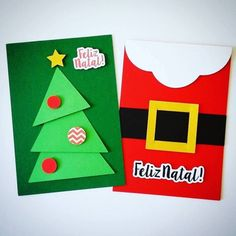 Cart o de Natal para fazer com as crian as o as Christmas Card Crafts, Merry Christmas Card, Kids Christmas, Holiday Crafts, Christmas Decorations, Christmas Cards Handmade Kids, Handmade Cards, Diy Cadeau Noel, Tarjetas Diy