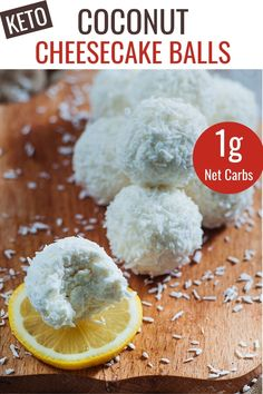 It's easy to make quick no bake keto snacks to satisfy a sweet tooth. These easy to make low carb lemon coconut cream cheese balls combine two great flavors into tasty cheesecake like bites! Low Carb Sweets, Low Carb Desserts, Low Carb Recipes, Cooking Recipes, Diabetic Recipes, Healthy Dessert Recipes, Keto Snacks, Yummy Snacks, Healthy Deserts