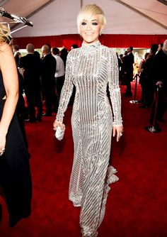 Grammys Red Carpet 2015 Rita Ora