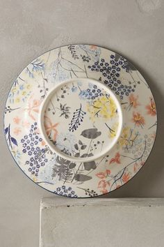 How lovely! The back of the plate is as pretty as the front. I like that.