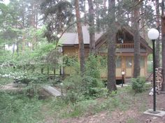 For the ultimate combination of luxury and nature, staying at the Chayka Hotel Resort is the number one option while in the Nizhny Novgorod, Russia area. This is a picture of a hunter's cabin which can be rented out (it contains a Russian Bath).