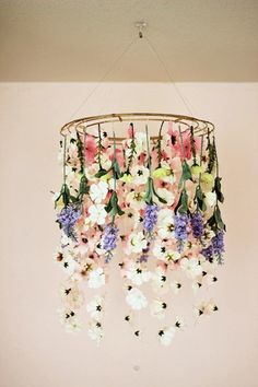 Floral Chandelier - 25 Warm Weather DIYs To Elevate Your Backyard - Photos