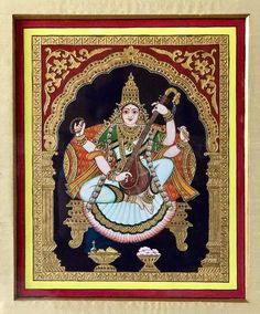 Rupa's art gallery, how-to videos Painting Gallery, Mural Painting, Art Gallery, Mysore Painting, Tanjore Painting, Old Paintings, Indian Paintings, Outline Pictures, Pooja Room Design