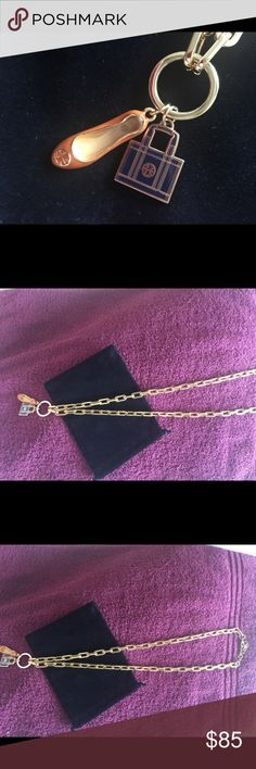 Tory Burch long gold necklace Tory Burch long gold necklace with shoe and purse pendants Tory Burch Jewelry Necklaces