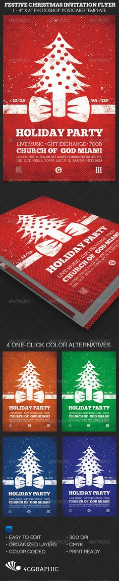 Merry Christmas Flyer Template Flyer template, Flyers and Merry - Invitation Flyer Template