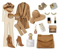 """""""Styling By Wynter: Autumn In New York"""" by thewynterproject on Polyvore featuring The Row, H&M, Lanvin, Elisabetta Franchi, Chanel, Buccellati, Butter London, Jessica Simpson, Urban Decay and Lancôme"""