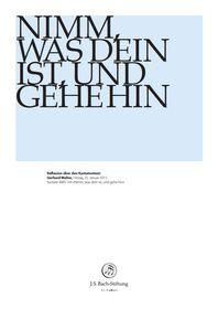 """BWV 144: Gerhard Walter  Reflexion über den Kantatentext  Gerhard Walter über BWV 144 """"Nimm, was dein ist, und gehe hin""""  25. Januar 2013 Gerhard, Foundation, Decor, January, Decoration, Foundation Series, Decorating, Deco"""