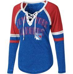 Touch by Alyssa Milano Women s New York Rangers Backshot Long Sleeve Shirt. 00d5de00a