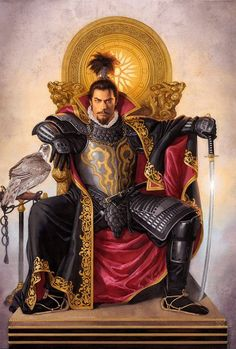 Tsuyoshi Nagano Nagano Tsuyoshi is a Japanese illustrator most famous for doing the cover artwork for the Romance of the Three Kingdoms video game se Ronin Samurai, Samurai Armor, Character Concept, Character Art, Character Design, Nagano, Fantasy Armor, Dark Fantasy, Dnd Characters
