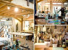 Last month we swooned over cool desks, goodies for pepping up your workspace, and probably got too excited about tools for decluttering your cords. Today, we turn our attention to the more creative work realm. From jewelry studios to confetti workshops, here are 15 inspiring studios, shops, and craft rooms. (P.S. Happy National Craft Month!)