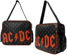NEW - AC/DC- Logo on a PVC diaper bag by Sourpuss (Can be used as a carryall!)