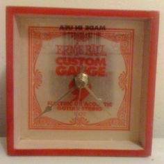 Guitar string shadow box clock