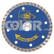 Disco Para Serra Mármore SG06 Turbo - DiamanGlass - Disco de diamante 110mm para máquinas manuais.     Ideal para materiais macios e azulejos, corte a seco. www.colar.com