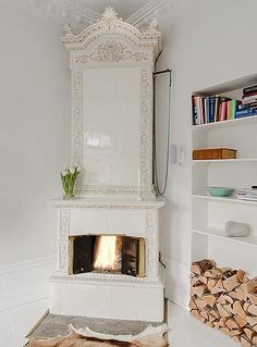 Contemporary and Antique Mix in White Swedish Apartment | Interior Design Files