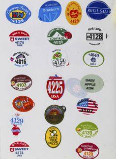 Fruit stickers