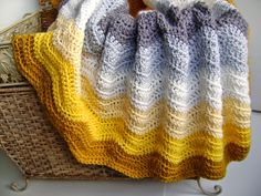 Easy crochet pattern available for this blanket. Creative Designs by Sheila Zachariae