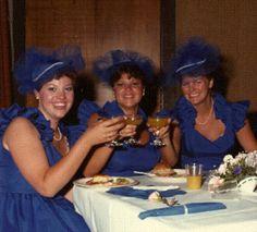 The pinner said:  Oh hello, 80's bridesmaid HATS?!???