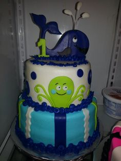 Whale of a birthday cake