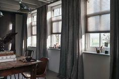 Gordijnen en raamdecoratie voor een industrieel #interieur