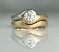 Bubbles & Wake Ocean inspired romance Ring with a bezel set Diamond. Sapphire Diamond Engagement, Pink Sapphire Ring, Custom Jewelry Design, Vintage Diamond, Ring Designs, Diamond Cuts, Vintage Jewelry, Wedding Rings, Bling