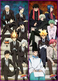 Katekyo Hitman Reborn. Haha the 1st family and the 10th family matched up the people who were similar